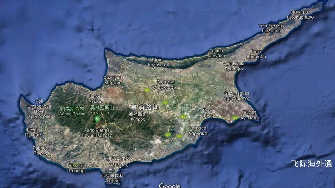 塞浦路斯买房地图